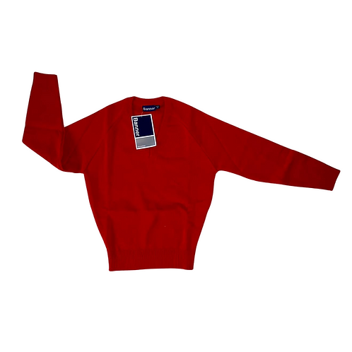 Banner red v-neck school sweater. NWT