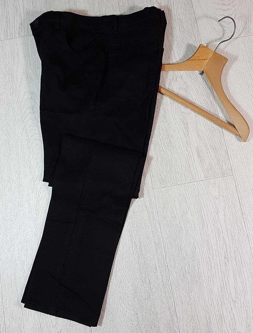 ◾George black slim leg school trousers with adjustable waist. 10-11yrs