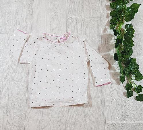 🐠Cherokee girls long sleeve heart top size 9/12 months