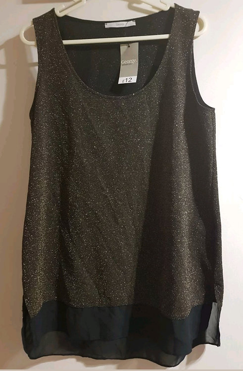George black top with gold glitter design. New with tags. Size 12.