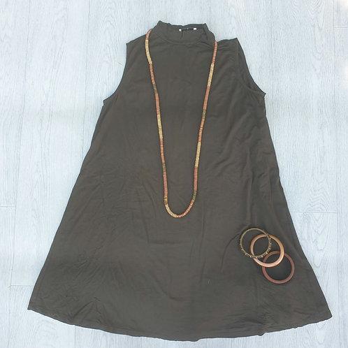 ⭐Matalan khaki green high neck top. Size S