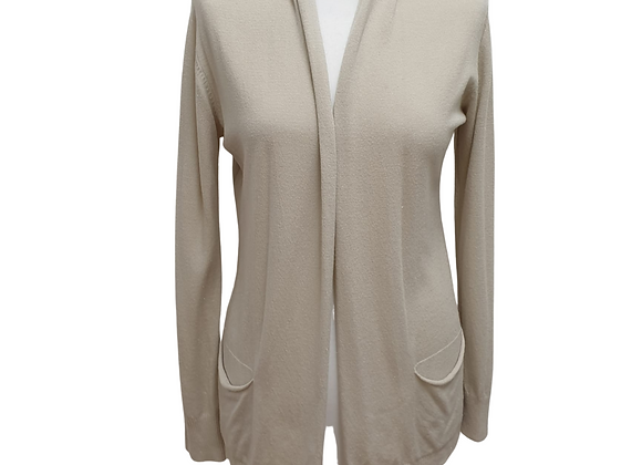 Wendy Trendy Beige sparkly cardigan. Size M/L