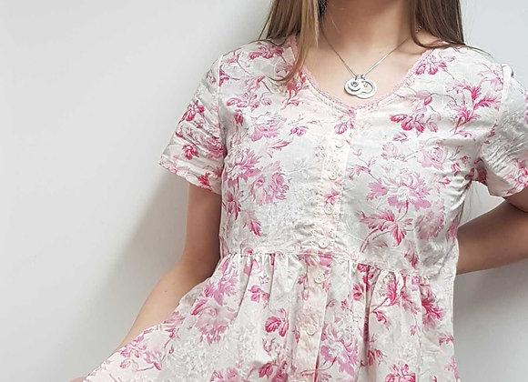 ◾🏴April Cornell pink blouse. Size S