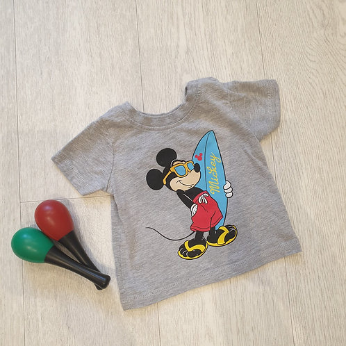🧸Disney grey Mickey t-shirt. 0-3m