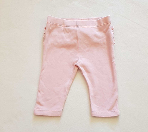 M&S pink leggings with ruffled bottom. 0-3months