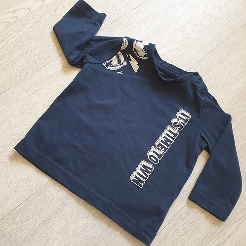 Mothercare navy long sleeve top. 3-6m