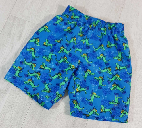 0db9cb4b4fe97 ◾Zoggs blue crocodile swim shorts. 4-5yrs