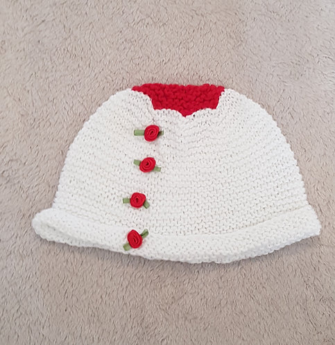 HAND KNITTED Winter hat. (12-18m)