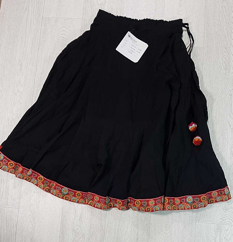 The Shop black skirt with tie waist. Size M NWT