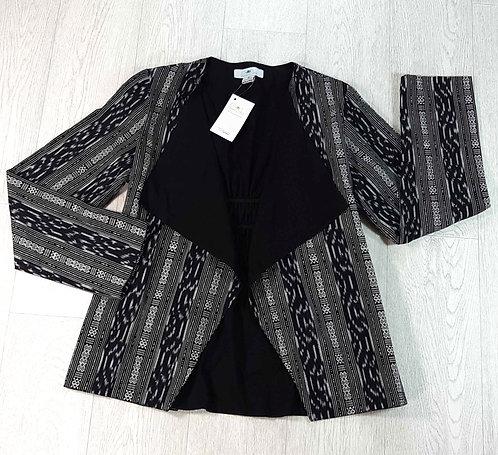 ◾Passion Lilie black/white open jacket. Size M NWT