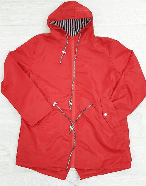 Red lightweight anorak. Suggested size UK 18-20