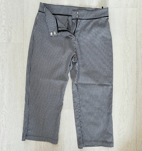 ○M&S gingham cropped trousers. Size 14 short