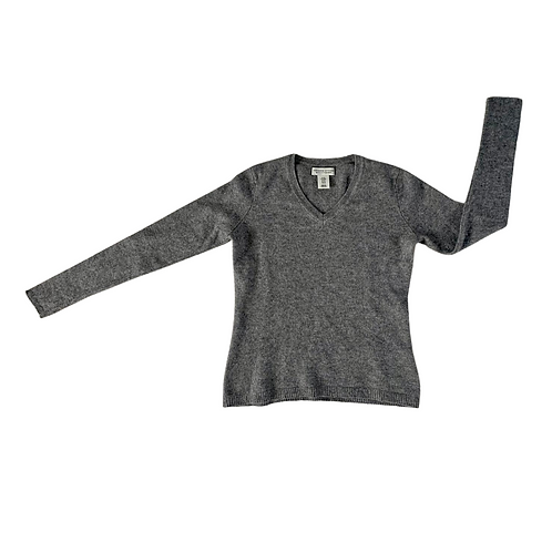 Adrienne Vittadini grey wool jumper. Size M