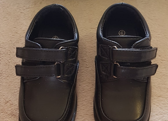 BOBBI SHOES Black velcro smart moccasins. (Box not included) Uk kids size 6.