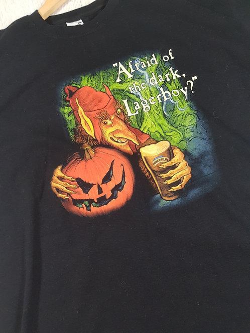 ✴Fruit of the loom Mens black pumpkin hobgoblin tshirt size XL