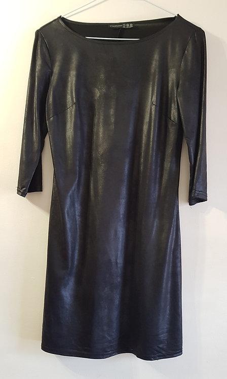 Atmosphere. Black leather effect mini dress. Size 8.