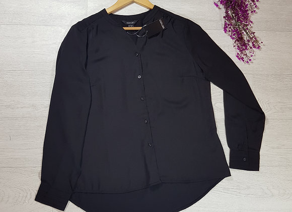 🍁Esmara black long-sleeve chiffon shirt size 18 (NWT)