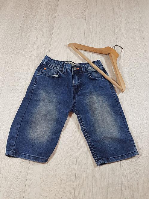 🌈Primark boys regular denim shorts with orange buttonhole size 9 / 10 years