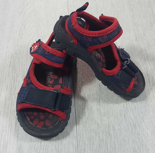 Walkright navy sandals with dinosaur detail. Velcro fastening. Size 4