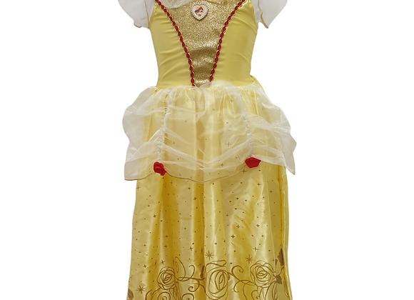 Disney yellow Belle dress. 5-6yrs