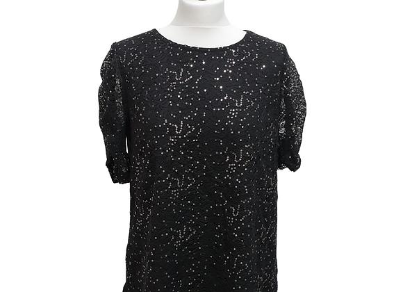 Dorothy Perkins black sequin top. Uk 16