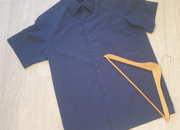 👔Bhs blue short sleeve shirt. Size M