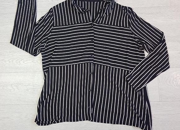 Black striped shirt. Size 18