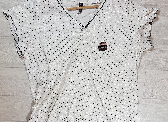 ✴Evans white and black polka dot night dress size 26/28 (NWT)