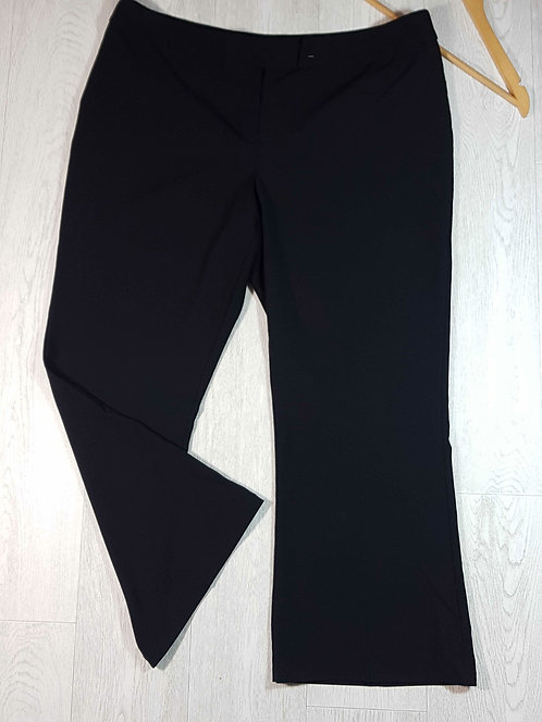 ◽George black bootcut trousers. Size 20