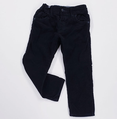 💛M&S black chord trousers with adjustable waist . 3-4yrs