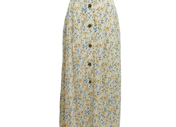Cavita yellow floral vintage skirt. Uk 16