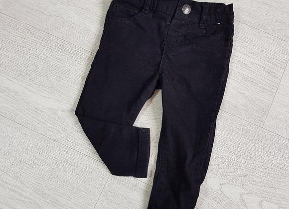 Denim Co black skinny jeans. 6-9m