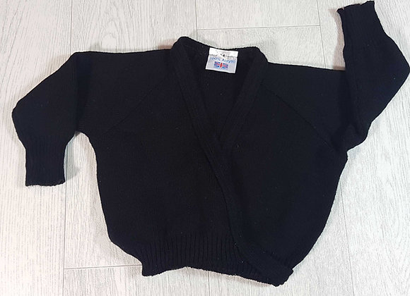 ◾Black ballet wrap cardigan. Size 24