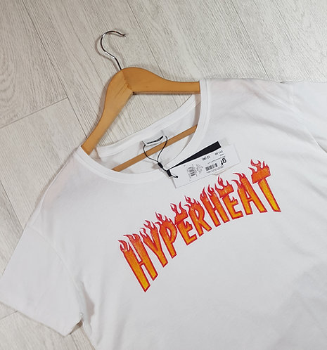 "🦄Noisy May white "" Hyperheat"" tshirt size M (NWT)"