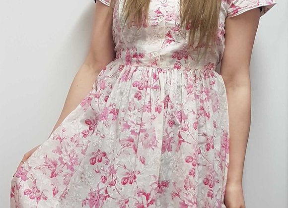 ◾🏴April Cornell pink/white porch dress. Size S
