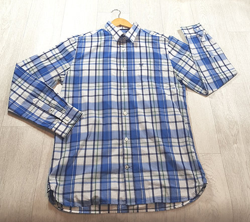 🚩Crew Clothing Co blue tartan shirt size Large