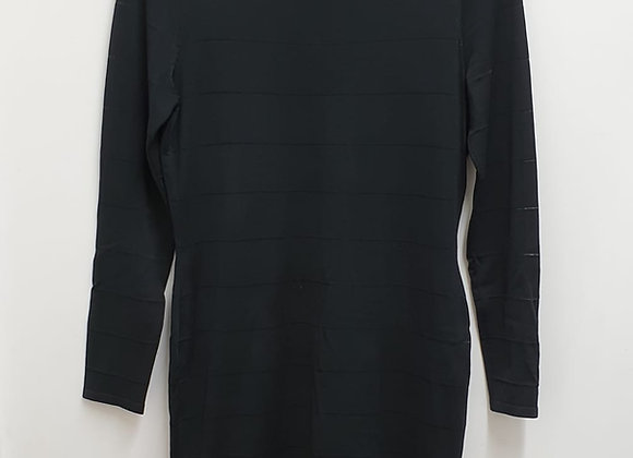Coast black stretch fit dress. Uk 14