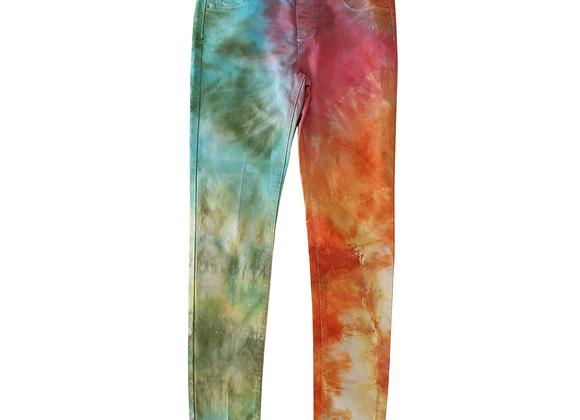 Dorothy Perkins Eden tie dyed skinny jeans. Uk 12 short