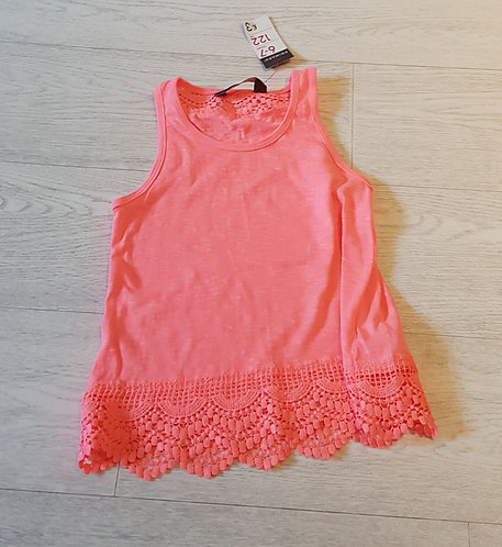 💛Primark Bright Coral vest top. 6-7yrs NWT
