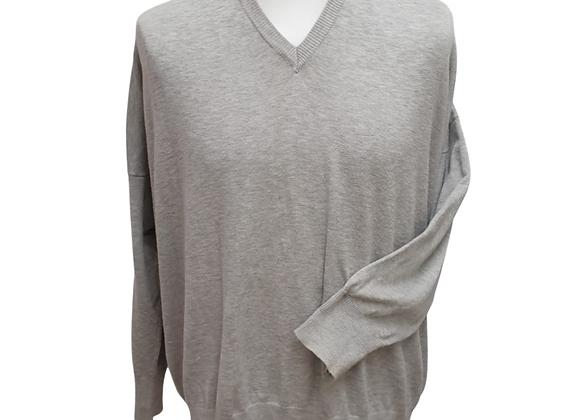 Capsule grey v-neck sweater. Uk 28-30