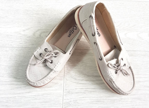 Cotton Traders beige loafers. Uk Size 3