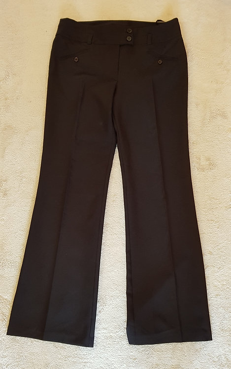 NEW LOOK Black boot cut trousers. Size 14