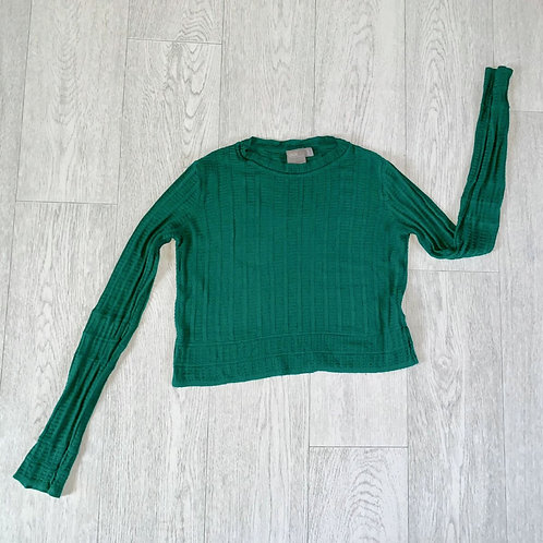 Asos green crop jumper. Uk 8