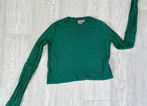 Asos green crop jumper. Uk 8
