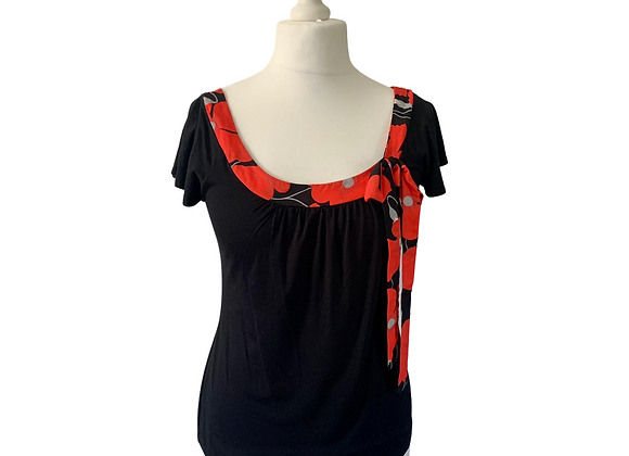 C.M.D black top with red bow. Size L