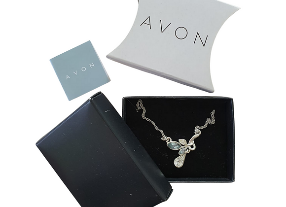 Avon Drop necklace with swarovski. NWOT