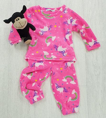 Just Like You pink fleece pyjamas. 2-3yrs