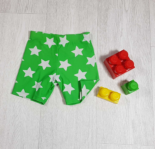 ◾Bhs green star swim shorts. Age 6-9months
