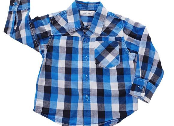 Early Days blue check shirt. 12-18m