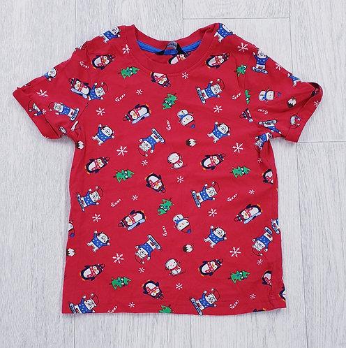 George red Snow animal t-shirt. 4-5yrs